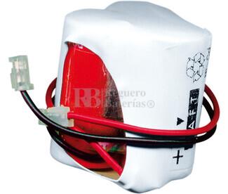 Packs de baterías recargables 3.6 Voltios 300 mAh 1-2AA NI-CD 28,0x30,0x28,0mm