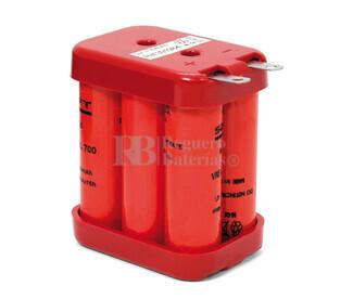 Packs de baterias recargables 6 Voltios 700 mAh NI-CD SAFT 45,0x55,0x32,0mm