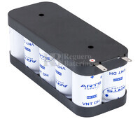 Packs de baterias recargables SAFT 12 Voltios 4.000 mAh VTD NI-CD 167,0x70,0x66,0mm