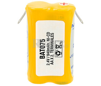 Packs de baterias recargables SAFT 2.4 Voltios 700 mAh AA NI-CD 28,0x49,0x14,0mm