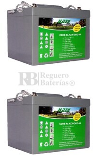 Par de baterías Gel para silla de ruedas 12 Volt 44 Amp