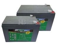 Kit 24 Voltios 12 Amperios de Gel EV12-12 para Vehículos Eléctricos