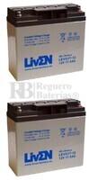 Par de baterías Gel para Movilidad 12 Voltios 17 Amperios LEVG17-12