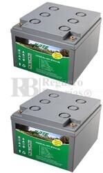Par de baterías de Gel para silla movilidad 12 Voltios 26 Amperios