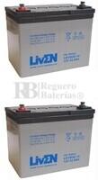 Par de baterías silla de ruedas 12 Voltios 32 Amperios Gel LEVG32-12