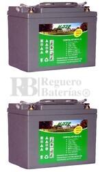 Par de baterías silla de ruedas 12 Voltios 33 Amperios HZYEV12-33