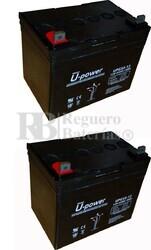 Par de baterías silla de ruedas 12 Voltios 33 Amperios UPG33-12