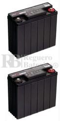 Par de baterías silla de ruedas 12 Voltios 16 Amperios EP16
