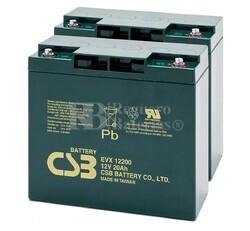 Par de baterías Silla Movilidad 12 Voltios 20 Amperios EVX12200