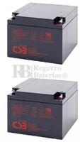 Par de baterías Silla Movilidad 12 Voltios 26 Amperios GP12260