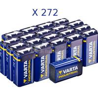 Pila Alcalina 9 Voltios 1.5 Voltios 580Mah VARTA INDUSTRIAL  (Bulk de 272 Unidades)