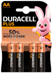 Pila Alcalina Duracell Plus Power AA Blister 4 Unidades