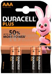 Pila Alcalina Duracell Plus Power AAA Blister 4 Unidades