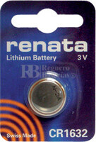 Pila alcalina Renata CR1632 3 v. 125 mAh.