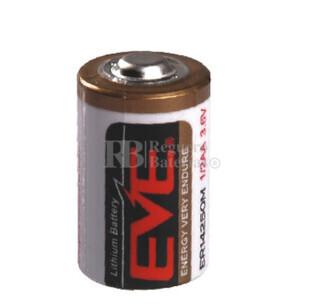Pila de Litio EVE 1-2 AA  3,6 Voltios 0,75Ah ER14250M-EN