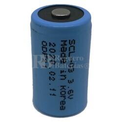 Pila de Litio para Alarma 3.6 Voltios 1.2 Amperios 1/2AA