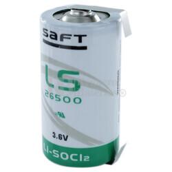 Pila de Litio SAFT LS26500 3,6V 7,7 Ah C/ Lengüetas