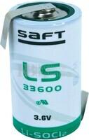 Pila de Litio SAFT LS33600 3,6V 17 Ah C/ Lengüetas
