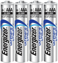 4 Pilas Lithium Ultimate AAA Energizer LR03 L92
