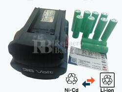 Reparación Batería Hilti BP6-86 36V a Litio