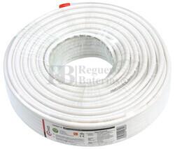Rollo de cable coaxial de antena blanco, 50m