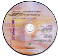 Software de control para establecer la configuración de apagado del SAI UPSILON 2000