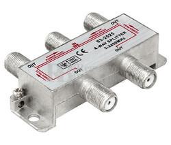 Splitter TV 1 entrada 4 salidas 5-2450MHz