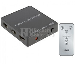 Switch HDMI 3 Entradas 1 Salida, con telemando