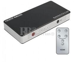 Switch HDMI 4 Entradas 1 Salida, con telemando