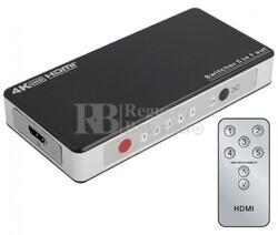 Switch HDMI 5 Entradas 1 Salida, con telemando