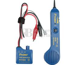 Tester de líneas telefónicas y rastreador de cables por tono