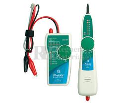 Tester de redes y localizador de cables por tono