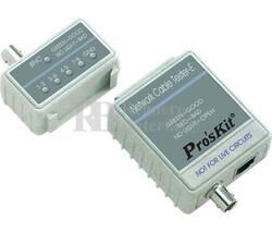 Tester para cables de redes UTP, FTP, BNC
