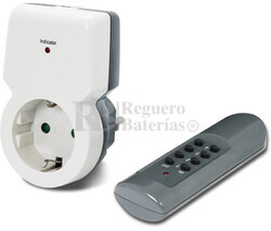 Toma de red por control remoto con radiocontrol