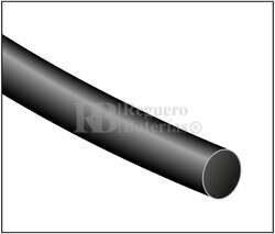 Tubo termoretráctil negro Largo 1200mm Diámetro 25,4mm pack de 5