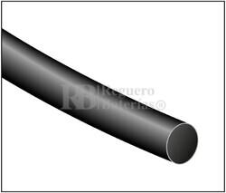Tubo termoretráctil negro Largo 1200mm, Diámetro 6,4mm Pack 10 tubos