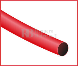 Tubo termoretráctil rojo Largo 1200mm, Diámetro 6,4mm Pack 10 tubos