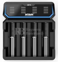 Xtar D4 Cargador de carga rápida baterías de litio