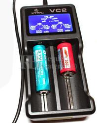 Xtar VC2 cargador baterías dual con pantalla 14500,18650,20700...